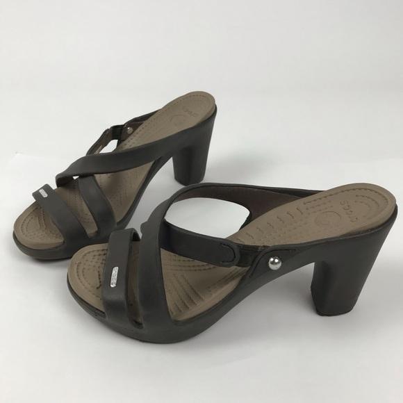 05942caa95fb CROCS Shoes - Crocs Cyprus Women s high heels size 8 brown